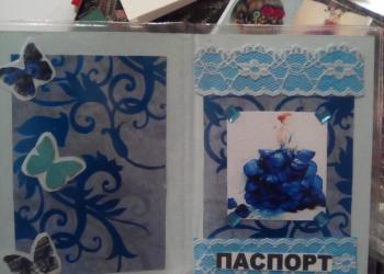 Обложки на паспорт ручной работы, цветочные шары