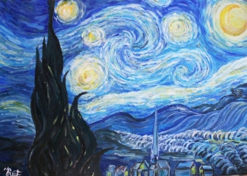 """Дубликат картины Ван Гога """"Звездная ночь"""""""