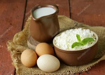 Деревенская молочная продукция