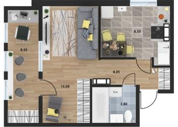 Продам 1-комнатная квартиру 36 м2 в ЖК Porto Franco Севастополь