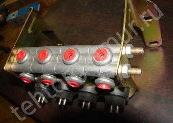 Клапан электромагнитный 4 клапана