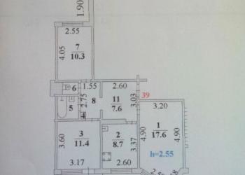 3-к квартира, 63 м2, 1/10 эт.