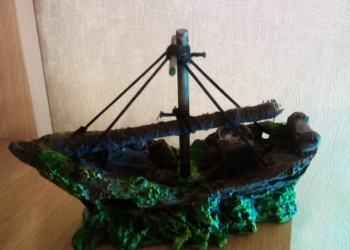 Кораблик для аквариума