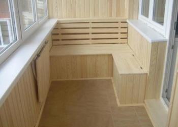 Обшивка вагонкой балконов, лоджий, домов, бань. Балкон под ключ
