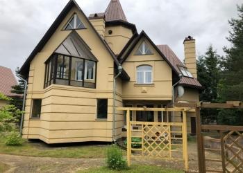 Дом оригинальной архитектурной постройки 235м2 +гараж/гостевой дом+участок 15 со