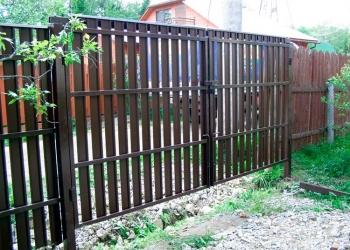 Установим забор с калиткой и воротами на Вашем участке в Пензе