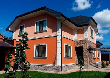 Декоративная отделка фасада, утепление стен, штукатурка и покраска