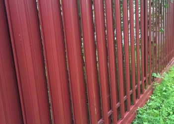 забор, металлический штакетник, евроштакетник,