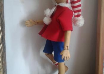 Буратино шарнирная кукла .авторская работа