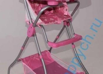 столик для кормления розовый