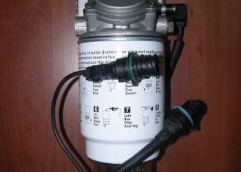 Фильтрующий элемент в сборе с кронштейном, отстойником для воды («стаканом»), да