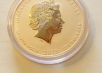 Золотая монета Австралии, Год Змеи 2013 г 2 унции