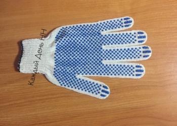 Рабочие перчатки х/б с ПВХ от производителя