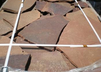 Камень Обожжённый природный натуральный терракотово-красный