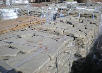 Галтованный камень серо-зелёный натуральный природный