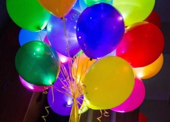 Гелиевые, светящиеся, фаольгированные шары