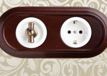 Внутренняя ретро проводка: выключатели и розетки