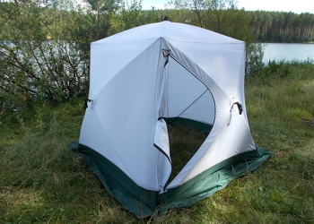 Палатка Куб-2  3-х слойн Стальная хаба Уралзонт