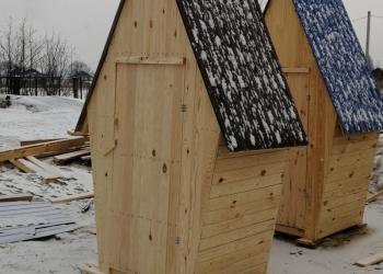 Деревянный  туалет домиком строганный