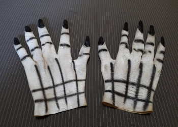 Маленькие Белые перчатки с когтями (Маска монстра)