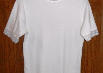 2 блузки хб с гипюром (белая и черная)