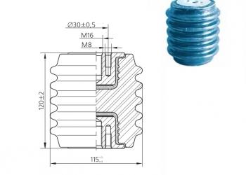 Изолятор фарфоровый линейный опорный
