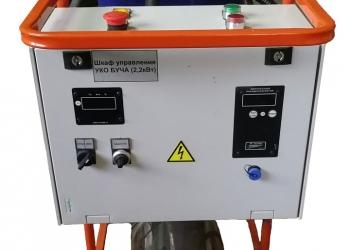 Насос для промывки оборудования для отопления с устройством нагрева раствора