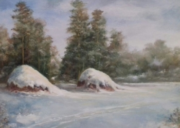 "Картина ""Мороз и солнце"", масло 30х40"