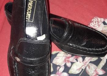 Демисезонный мужские черные туфли