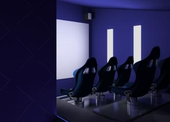 5D кинотеатр - развлекательное оборудование.