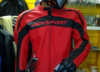 Куртка кожаная agvsport Topanga красная