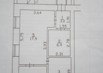 4-к квартира, 56 м2, 1/1 эт.