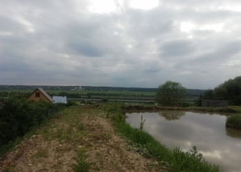 Продаю земельный участок 45 соток с прудом