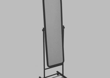 Продам зеркало напольное,подвижное на колёсиках!