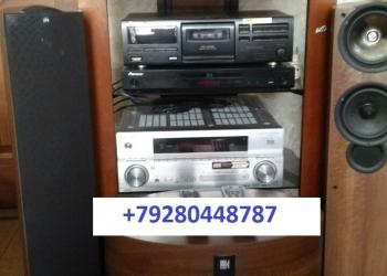 Акустический комплект 5.1KEF(англия) рессивер VSX-2016AV (пионер) CD,DVD,(blu ra