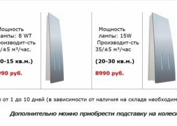 рециркуляторы  (бактерицидные облучатели)