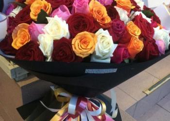 Цветы-Букеты- Розы 101шт-микс40см-за 2500.Доставка