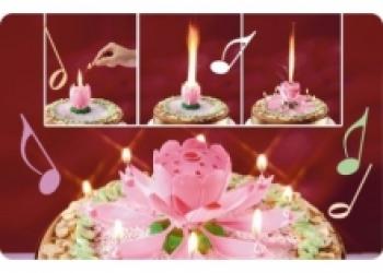 Свеча для торта Музыкальный цветок