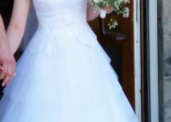 Изящное свадебное платье!