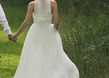 Свадебное платье айвори размер 42-46 на шнуровке