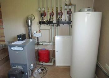 Монтаж котла отопления, отопительной системы.