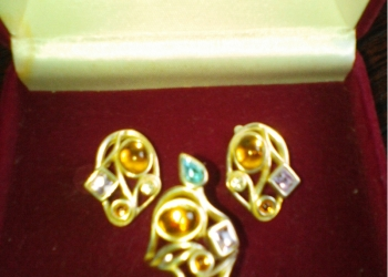 Комплект Сережки и кольцо