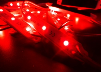 Светодиодный модуль 5054/3 красный