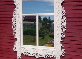 Резные деревянные наличники на окна на заказ