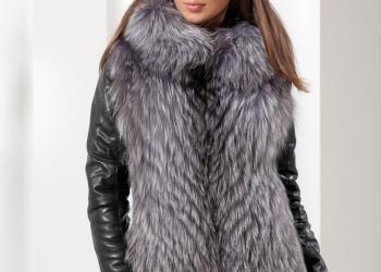 Новая куртка с мехом чернобурки
