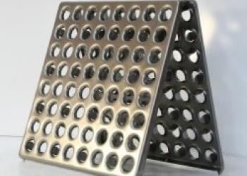 Плитка металлическая для полов
