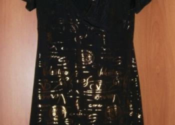 Платье черное р46