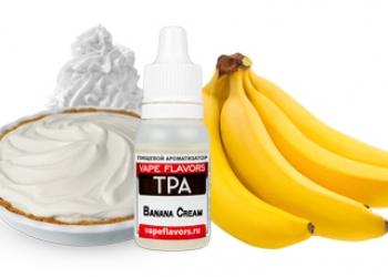 Ароматизатор Vape Flavors TPA, 10 мл, Banana Cream