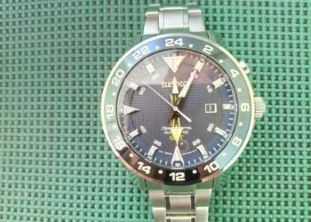 Японские мужские часы SEIKO Sportura Kinetic GMT