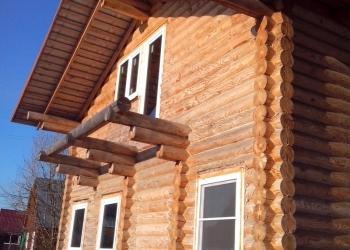 Дом 110 м2 из оцилиндрованного бревна на участке 10 соток у Чехова